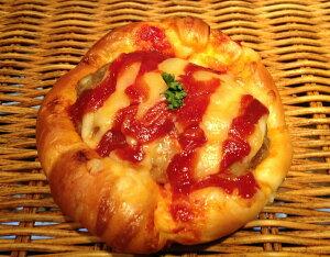 【ハンバーグパン】ハンバーグとチーズがおいしい惣菜パン