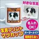ペット・子供の写真や名前がプリントできるオリジナルマグカップ。プレゼントにも最適!オーダ...
