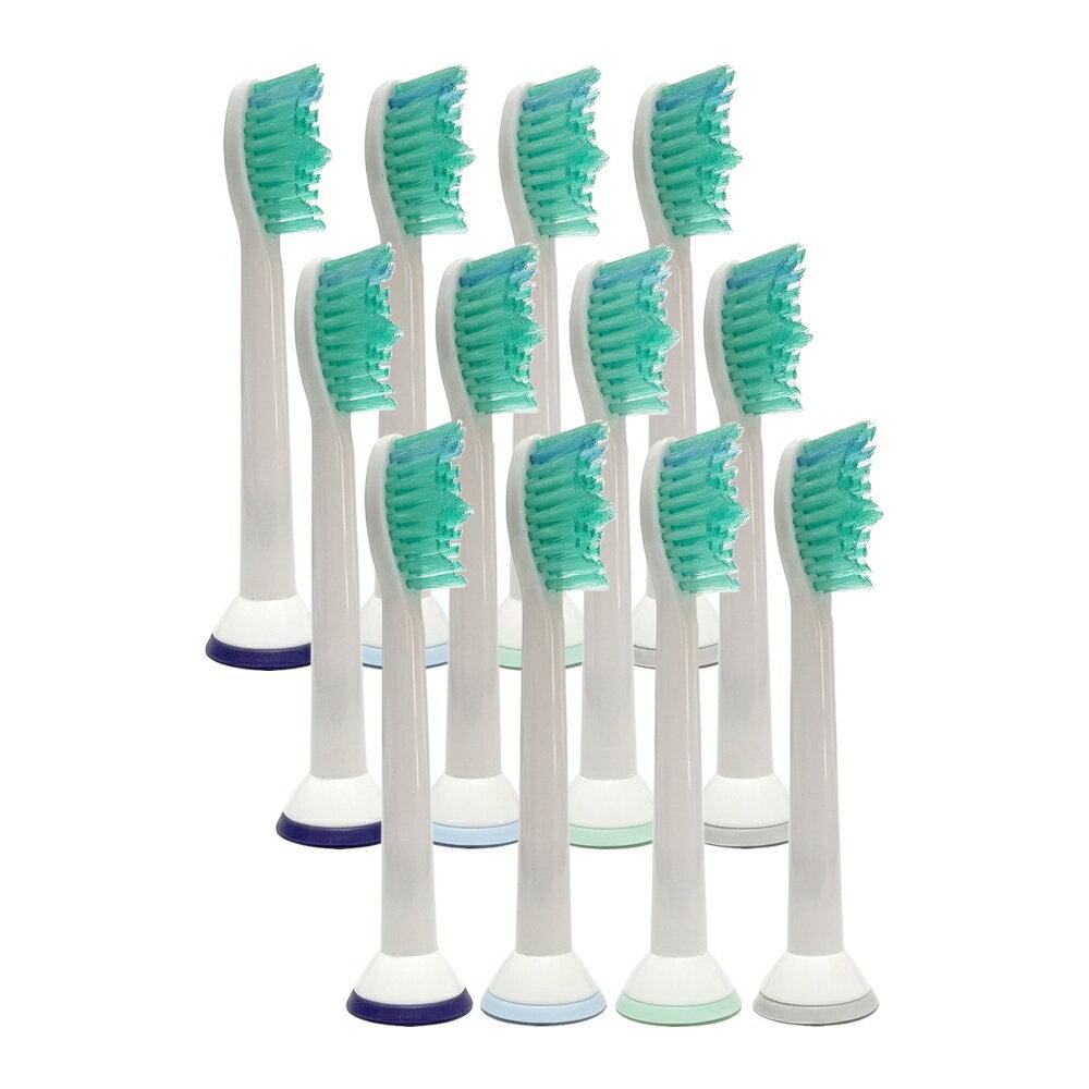 フィリップス ソニッケアー対応 プロリザルツ HX6014 HX6012 電動歯ブラシ用 互換 替えブラシ (12本セット) ブラシヘッド スタンダード 安心一年保証