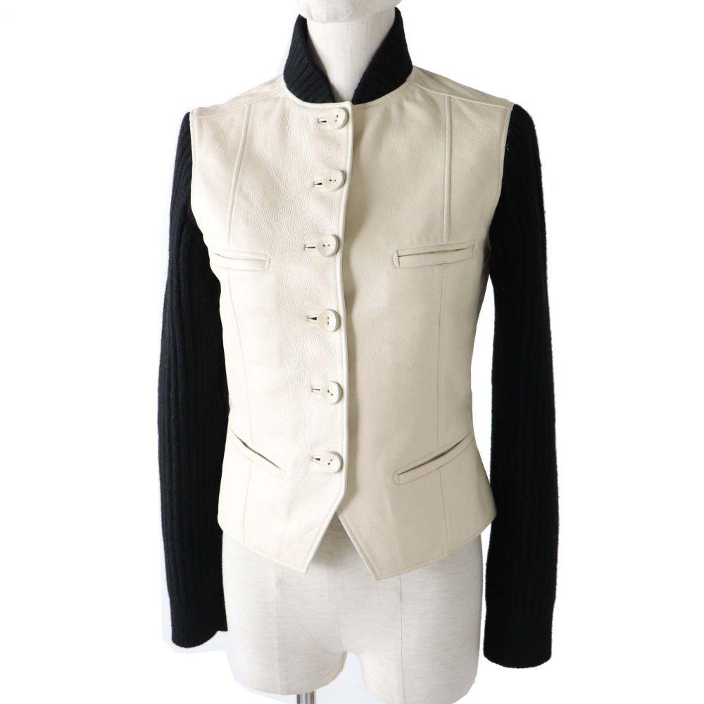 HERMES leather jacket HERMES 34