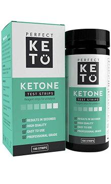 Perfect KETO ケトン体 ケトン 試験紙 尿検査 ケト スティック 100枚入り 40秒 ケトダイエット 検査 ケトン ケトーシス ダイエット 糖質制限