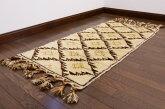 【USED】ベッドサイドにも◎モロッカンラグミックスインテリアリビングアンティーク家具ウール絨毯ギャッベキリム【RAGL005】【中古】