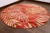 【USED】寛ぎスペースに◎円形ラグミックスインテリアリビングアンティーク家具ウール絨毯ギャッベキリム【RAGL080】【中古】