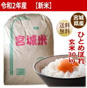 【新米】【令和2年産】ひとめぼれ玄米30kg×1袋小分けでき...