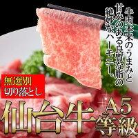 A5ランクの絶品お肉☆【無選別】仙台牛切り落とし500g[C冷凍]