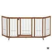 【その他厳選】ペット用 木製おくだけドア付ゲート M