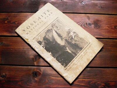 70年以上前の世界遺産カリフォルニア州【ヨセミテ国立公園】1936年製公式ガイドブック【USED品】