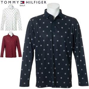 トミーヒルフィガー ゴルフ ウェア メンズ モノグラム 長袖ポロシャツ THMA054 2020年秋冬モデル M-XL 【あす楽対応】