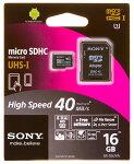 SONY16GBmicroSDHCUHS-IU1Class10「SR-16UYA」海外パッケージ品変換アダプタ付