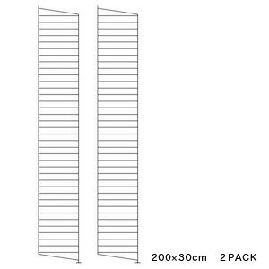 String サイドフレーム 200×30cm (2枚組) | ストリング フレーム 飾り棚 壁掛け 壁付け サイドパネル ウォールシェルフ インテリア おしゃれ お洒落 家具 北欧 北欧家具 ラック 収納 リビング 組み立て
