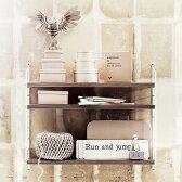 String Pocket Walnut×White (ストリングポケット ウォルナットホワイト)【送料無料!北欧スウェーデン生まれのシェルフ】 stiring shelf 飾り棚/壁掛け/棚/ウォールシェルフ/MoMA認定カラー