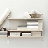 【6月入荷予約】String Pocket Ash White (ストリングポケット アッシュホワイト)【送料無料!北欧スウェーデン生まれのシェルフ】 stiring shelf 飾り棚/壁掛け/棚/ウォールシェルフ