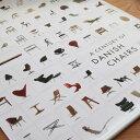 ポスター POSTER Century of Danish Chairs 幅 70cm | 北欧 椅子 チェア デザイン デザイナー 名作 北欧家具 インテリア シンプル デンマーク デンマーク家具 おしゃれ お洒落