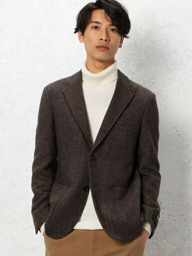 Mallalieus Tweed Jacket 3222-199-0305: Brown Herringbone