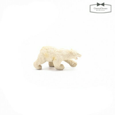 【動物フィギュア】白クマのアイス君【動物 フィギュア くま シロクマ 動物園 小物 モチーフ ビーズアンドパーツ アクセサリーパーツ】