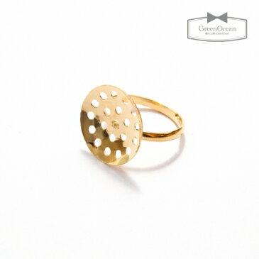 【アクセサリー土台】リング台座 《きれいめゴールド》 [指輪,サークル,ゆびわ]