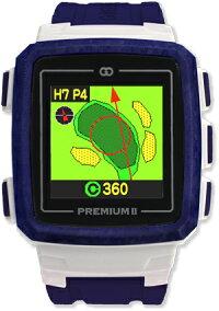 【送料無料】日本初!みちびきL1S対応で誤差1mのGPSゴルフナビGreenOn『THEGOLFWATCHPREMIUMII』(グリーンオン『ザ・ゴルフウォッチプレミアム2』)[腕時計型][GPSキャディー][GPS][ナビ][スマホ連動][アプローチ][距離計][楽天]