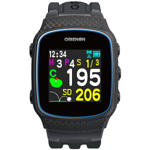 みちびきL1S対応で誤差1mの高精度GPSゴルフナビ GreenOn『THE GOLF WATCH NORM II』(グリーンオン『ザ・ゴルフウォッチ ノルムII』)[腕時計型][GPSキャディー][GPS][ナビ][スマホ連動][高精度][距離計][楽天]