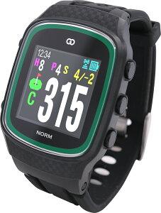 みちびきL1S対応で誤差1mの高精度GPSゴルフナビ GreenOn『THE GOLF WATCH NORM』(グリーンオン『ザ・ゴルフウォッチ ノルム』)[腕時計型][GPSキャディー][GPS][ナビ][スマホ連動][高精度][距離計][楽天]