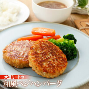 【クール便送料別途】大豆ミートの和風ベジハンバーグ (80g×10個入り) rt
