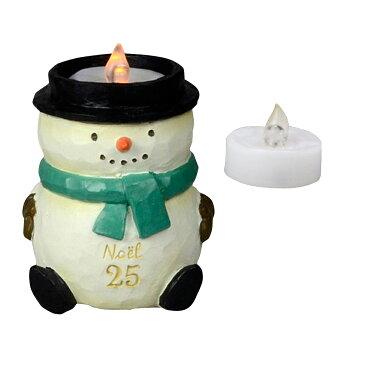 【クリスマス】ケー・イー・アイ CMゆらゆらLEDローソク付きオブジェ スノーマン CM644-B