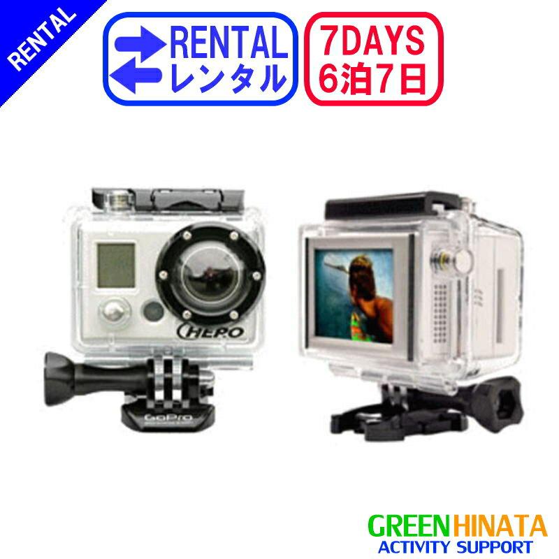 【レンタル】 【6泊7日LCD1】 ゴープロ アクションカメラHEROHD1080+LCD gopro レンタル GOPRO HD1080+LCD ハイビジョン アクションカメラ LCD液晶付