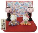ハローキティ雪洞付きミニヒナ(183113)ひな人形/雛人形/ぼんぼり付き/吉徳/節句【60】