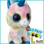 BeanieBoo's(ビーニーブーズ)ぬいぐるみL(22cm)【ブリッツ(Blitz)】TY/タイ/ユニコーン/かわいい/特大/巨大/大きい/ビッグサイズ/ファンシー雑貨/グッズ/カラフル/