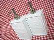 白い陶器のディスペンサー2個セット:イカリ柄シャンプーリンス・カントリー雑貨