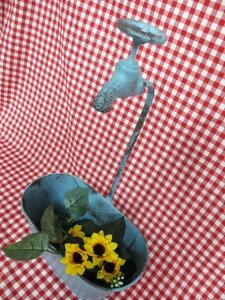 セール★ブリキ蛇口付きプランター だ円 (穴あり) ブルー・UM508カントリー雑貨・ガーデニング・鉢