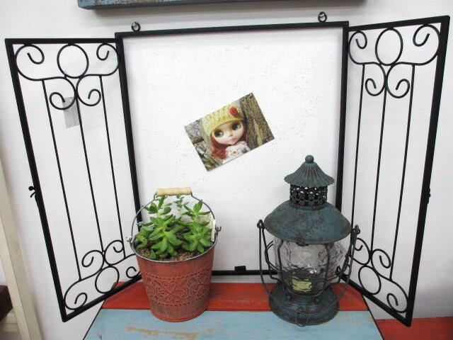 アイアン ウォールウィンドウ スクエア/ 壁掛け飾りposh-62831/カントリー雑貨/ギフト/プレゼント/ホワイトデー/母の日/父の日