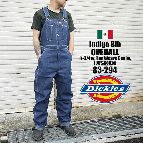オーバーオール Dickies ディッキーズ 83-294 83294 INDIGO BLUE DENIM インディゴ デニム メンズ ...