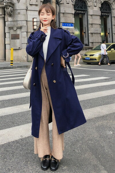レディースコート暖かいコート通勤ロングジャケットトレンチコート(T)