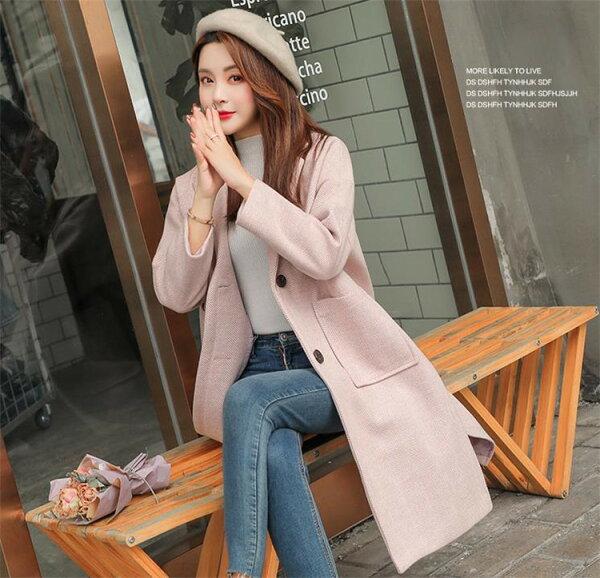 韓国ファッションレデイースダスターコートジャケット女性らしいトレンチコート(T)