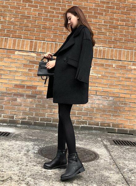 韓国ファッションレデイースダスターコート女性らしいトレンチコートスレンダーライン(T)