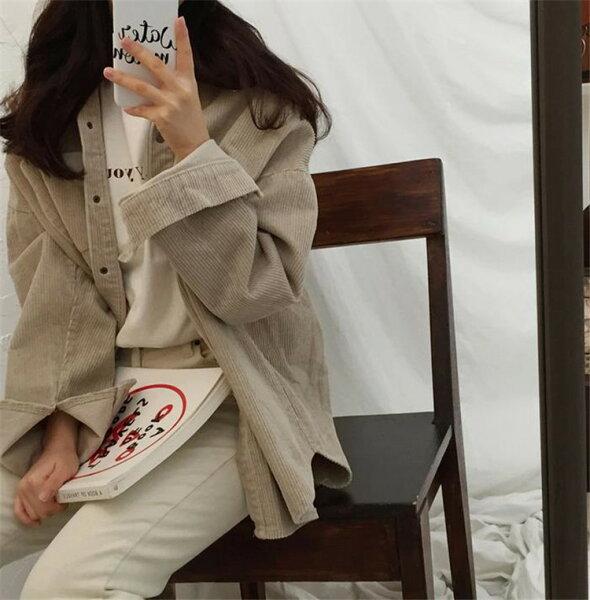 コーデにぴったり韓国ファッションおしゃれコーデュロイトレンチコートコート(T)