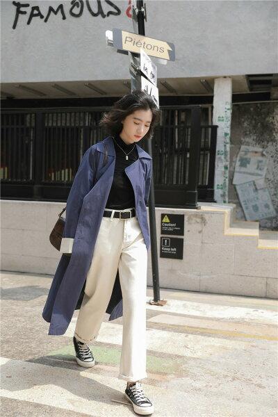 品の良い素材で作る大人旬Styleコートカジュアルトレンチコート(T)