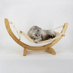 猫 ブランコ 小型犬 ブリティッシュショートヘア 無垢材 ハンモック ハンモック(T)