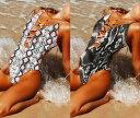 ワンピース 水着 レディース 蛇柄 パイソン柄 プリント アニマル柄 アニマルプリント S M L XL LL 小さいサイズ 大きいサイズ 小胸 体型カバー セクシー 可愛い かわいい おしゃれ 女性用水着 レディース水着 胸を盛れる 可愛い水着 かわいい水着(T)