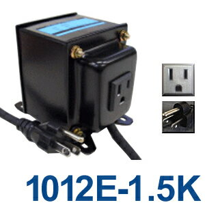 GPTGK1012E-1.5K Aタイプアースピン付トランス 日本製 AC100V⇒昇圧⇒110-120V(容量1500W)(to...
