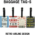 日本製 RETORO AIRLIN DESIGHN レトロエアラインデザイン BAGGAGE TAG バゲッジタグ・S メール便OK(ko1a371)