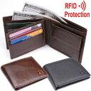 GPT 財布 二つ折り スキミング防止 本革 牛革 メンズ ウォレット ( RFID ブロック サイフ ) アウトレット 2点迄メール便OK(gu1a237)