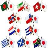 「tc」日本と各国の友好旗ピンズ D-838〜842・D-844〜846・D-851〜852 40点までメール便OK(da1a040)