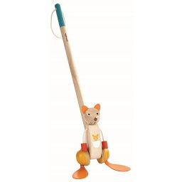 木のおもちゃ プラントイ ダンシングカンガルー プッシュトイ 木製玩具 知育玩具