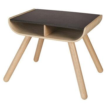 木のおもちゃ プラントイ PLANTOYS テーブル ブラック 曲木 幼児 天板 お絵かきできる 収納 かわいい
