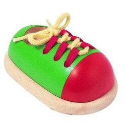 木製玩具プラントイタイアップシューズ靴ひも結び