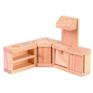 プラントイ 木のおもちゃ PLANTOYS ドールハウス クラシックキッチン おままごとに 木製玩具