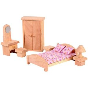 プラントイ 木のおもちゃ PLANTOYS ドールハウス クラシックベッドルーム おままごとに 木製玩具