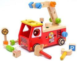 木製玩具アイムトイアクティブ消防車