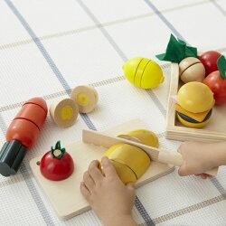 おままごとセット木のおもちゃ包丁で野菜をザクザク木製玩具ままごといっぱいセット【あす楽対応】